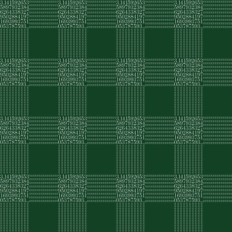"chalkboard pi - gingham (1"" check) fabric by weavingmajor on Spoonflower - custom fabric"