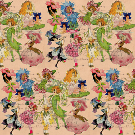 Victorian Garden Fairies fabric by marchhare on Spoonflower - custom fabric