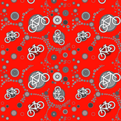 bycicles in red for boys and girls