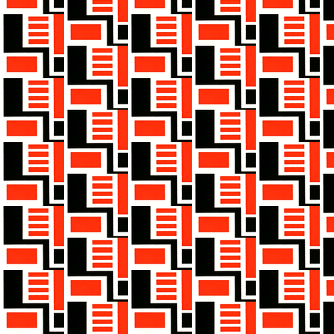 Zocher Red & Black fabric by stoflab on Spoonflower - custom fabric