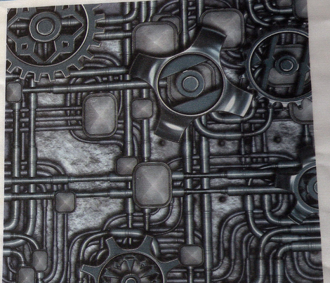 Steampunk Panel - Gears and Pipes - Steel