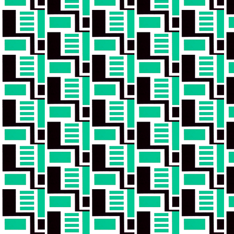 Zocher Green & Black fabric by stoflab on Spoonflower - custom fabric