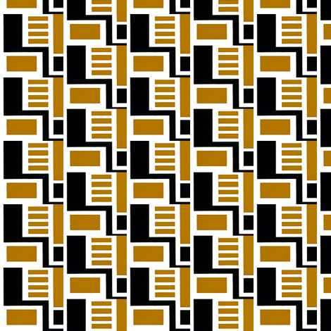 Zocher Brown & Black fabric by stoflab on Spoonflower - custom fabric