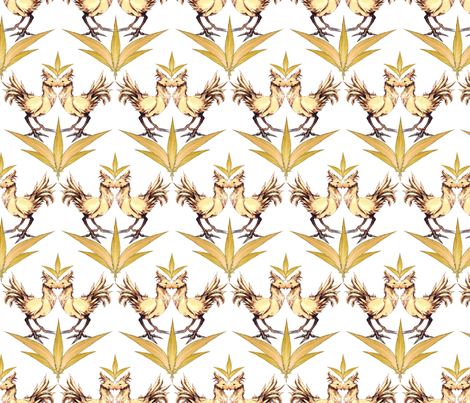Chocobo Vintage (White) fabric by retropopsugar on Spoonflower - custom fabric