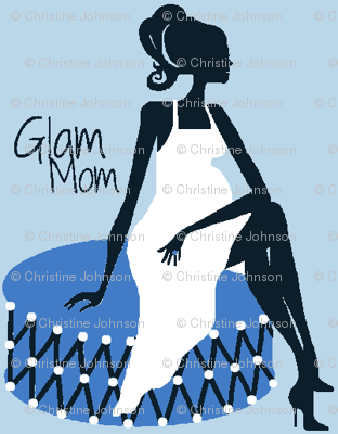 Glam Mom blue