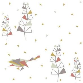 Indian Season- Trees and birds