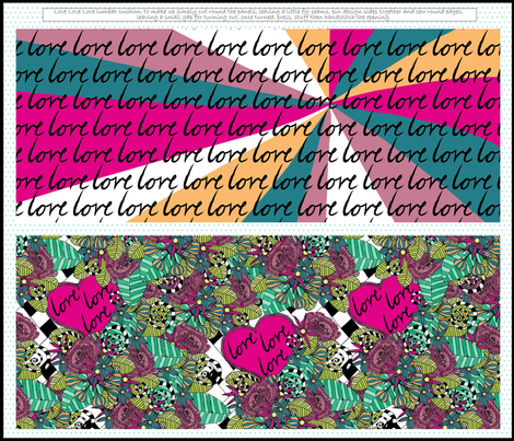 Love Love Love Lumbar Cushion fabric by glanoramay on Spoonflower - custom fabric