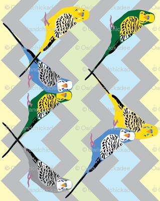 Parakeets - Chevron Multi