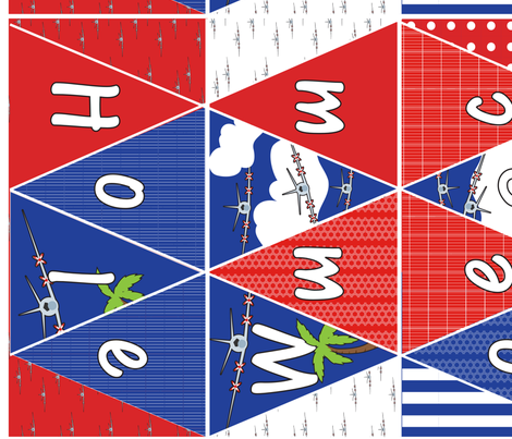 Welcome Home Mad Fox Squadron fabric by mainsail_studio on Spoonflower - custom fabric