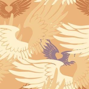 Camo Heartwings II: Apricot & Lavender