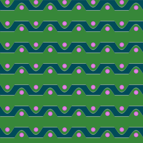 Sine_Stripe__-green_with_pink fabric by fireflower on Spoonflower - custom fabric