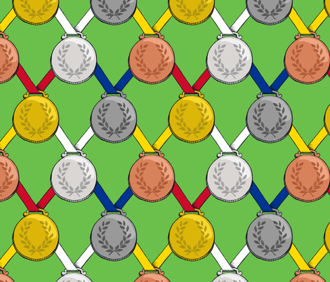 medals fabric by gershamabob on Spoonflower - custom fabric