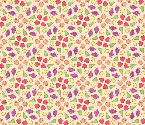fruits a plenty fabric by bubbledog on Spoonflower - custom fabric