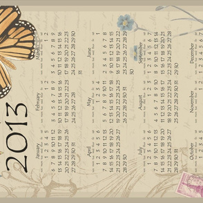 Butterfly calendar 2013