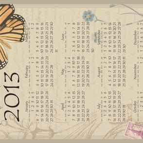 Butterfly calendar 2013
