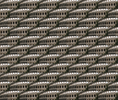 Colosseum fabric by zippyartist on Spoonflower - custom fabric