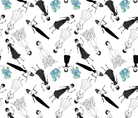 Audrey Hepburn fabric by kategabrielle on Spoonflower - custom fabric