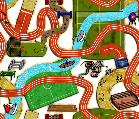 A way through sports fabric by bonnie_phantasm on Spoonflower - custom fabric