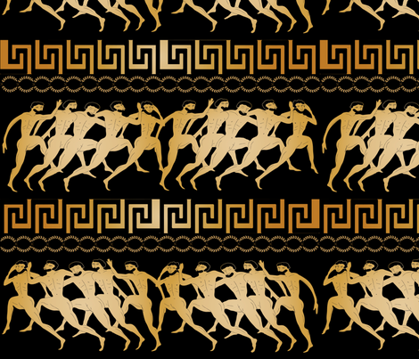 Ancient Greek olympics fabric by kociara on Spoonflower - custom fabric