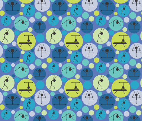 Gymnastics Love fabric by bojudesigns on Spoonflower - custom fabric