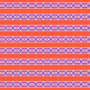 Surprise Stripe____-Orange-Violet-Magenta-White