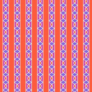 Surprise Stripe____-Orange-Violet-Magenta-White____Vertical
