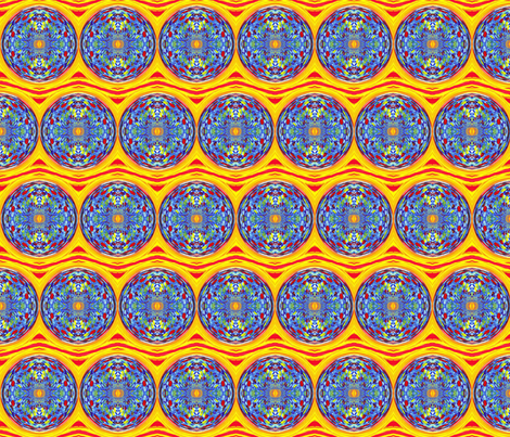 Circus Sky in the Round fabric by anniedeb on Spoonflower - custom fabric