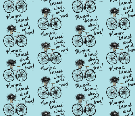 Majorie_dreamed_about_world_travel fabric by evelynrosedesigns on Spoonflower - custom fabric
