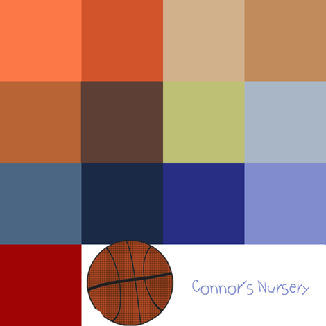 Connors Nursery Color Pallette fabric by cksstudio80 on Spoonflower - custom fabric