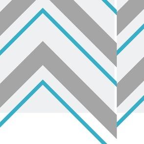 chevron double stripe