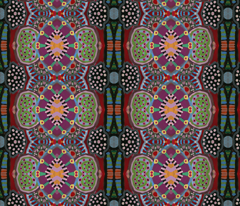 Circle_Painting_067 fabric by edanddoris on Spoonflower - custom fabric