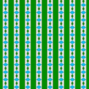 Surprise Stripe____-Green-White-Turquoise___Vertical