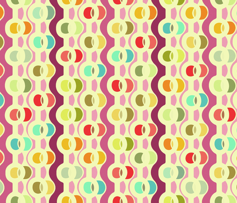 retro candy chains fabric by scrummy on Spoonflower - custom fabric