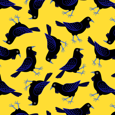 2Ravens fabric by yellowstudio on Spoonflower - custom fabric