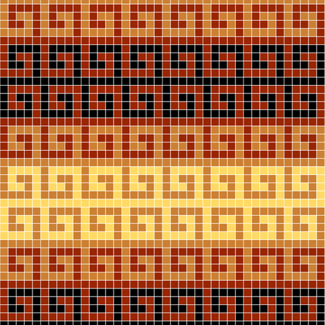 greek mosaic stripe : terracotta fabric by sef on Spoonflower - custom fabric
