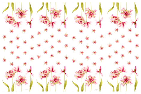 parrot tulip panel fabric by jan_harbon on Spoonflower - custom fabric