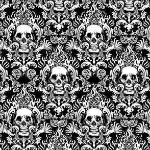 skull-damask-10inch-tall