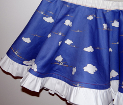 airplane circle skirt for toddlers