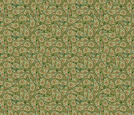 Floral Paisley gray green © 2012 by Jane Walker fabric by artbyjanewalker on Spoonflower - custom fabric