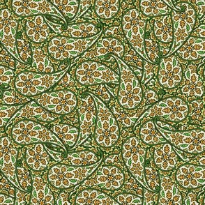 Floral Paisley gray green © 2012 by Jane Walker