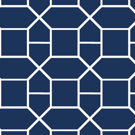 Navy Nautical Chain fabric by fleamarkettrixie on Spoonflower - custom fabric