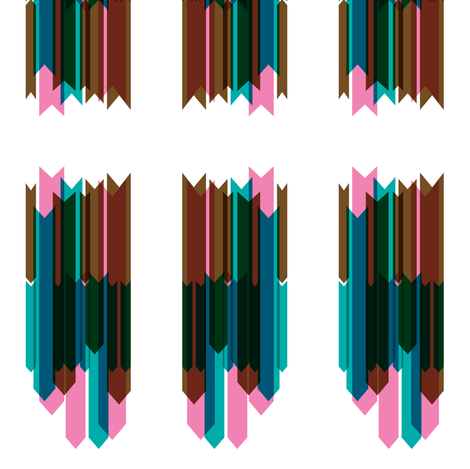 arrow stripes collage