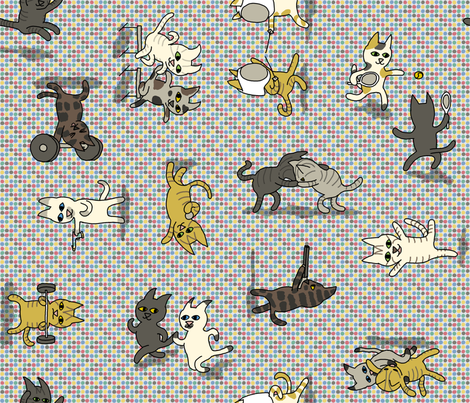 Cats at the Olympics fabric by mongiesama on Spoonflower - custom fabric