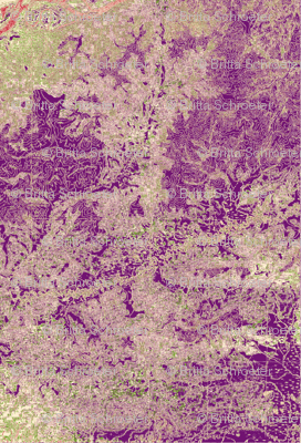 Psychadelic Map Print