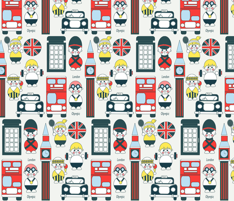 London  Olympics fabric by theboutiquestudio on Spoonflower - custom fabric