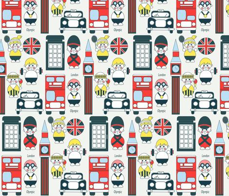 London  Olympics fabric by theboutiquestudio on Spoonflower - custom fabric