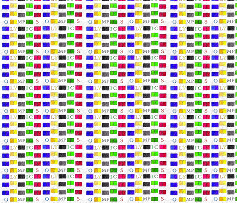 Olympic Colors fabric by twilfley on Spoonflower - custom fabric