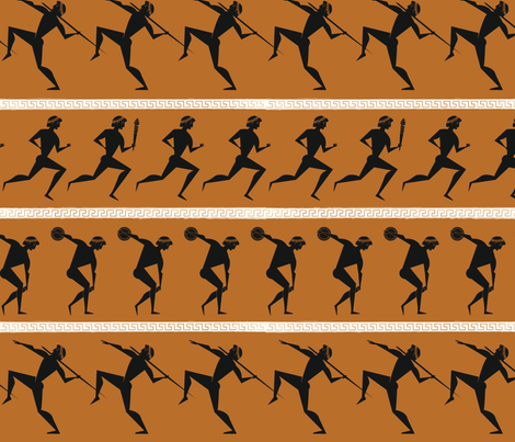 Ancient Athletes fabric by jenimp on Spoonflower - custom fabric