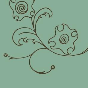 modern floral panels