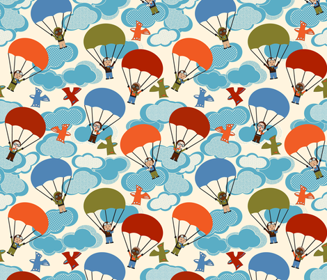 Jump fabric by mag-o on Spoonflower - custom fabric